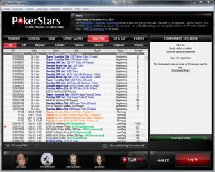 Example of PokerStars Room