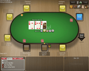 Example of 32Red Poker Table