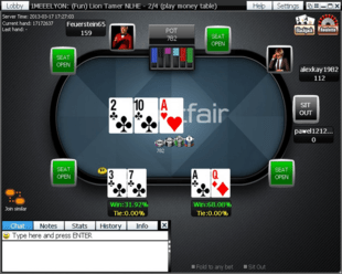 Example of Betfair Poker Table