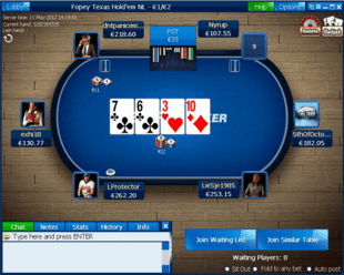 Example of Betfred Poker Table