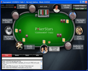 Example of PokerStars Table