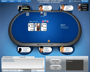 Example of Sky Poker Table