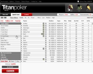 Example of Titan Poker Room